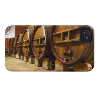 The wine cellar winery with big old wooden casks iPhone 4 case