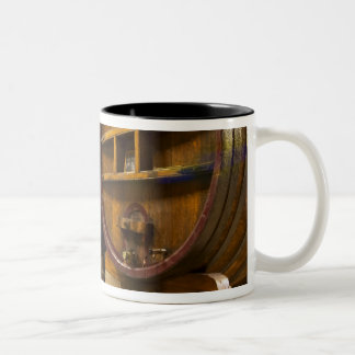 The wine cellar winery with big old wooden casks Two-Tone coffee mug