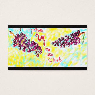 The wine clubs business card