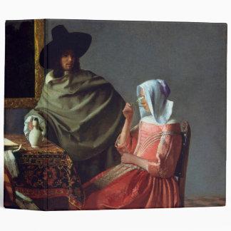 The Wine Glass, Jan Vermeer 3 Ring Binder