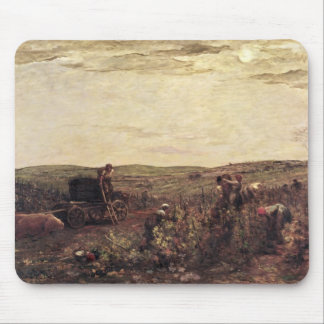 The Wine Harvest in Burgundy, 1863 Mouse Pad