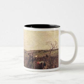 The Wine Harvest in Burgundy, 1863 Two-Tone Coffee Mug