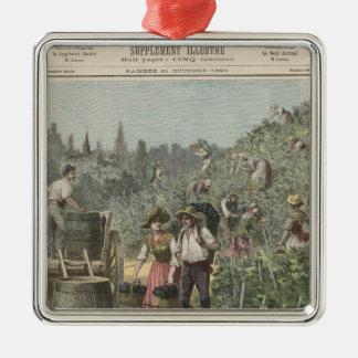 The Wine Harvest Metal Ornament