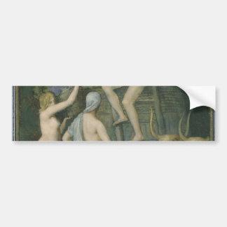 The Wine Press by Pierre Puvis de Chavannes Bumper Sticker