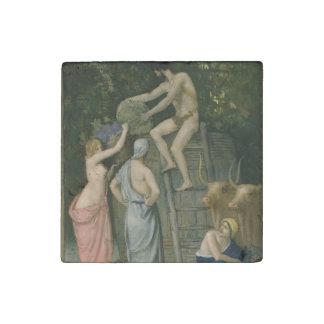 The Wine Press by Pierre Puvis de Chavannes Stone Magnet