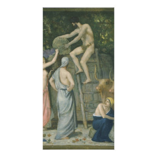 The Wine Press by Pierre Puvis de Chavannes Photo Card Template
