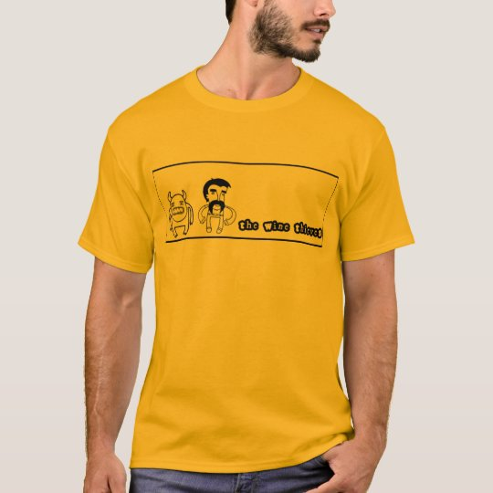 "the wine thieves ""mustache man"" gold T-shirt"