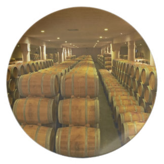 The winery, barrel aging cellar - Chateau Baron Melamine Plate