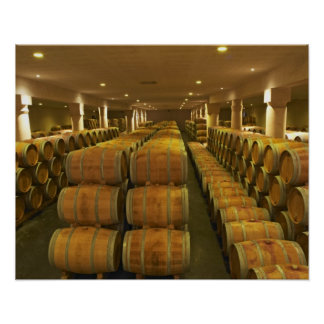 The winery barrel aging cellar - Chateau Baron Posters