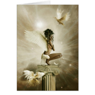 the winged being greeting card