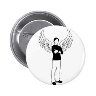 The Winged Borrower 2 Inch Round Button