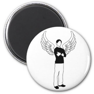 The Winged Borrower 2 Inch Round Magnet