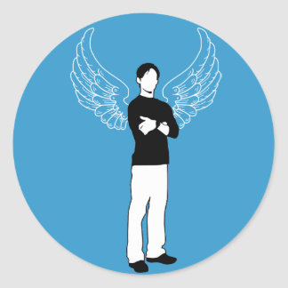 The Winged Borrower Classic Round Sticker