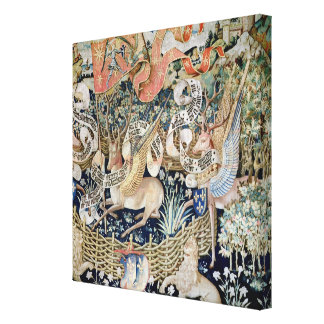 The Winged Deer (tapestry) Canvas Print