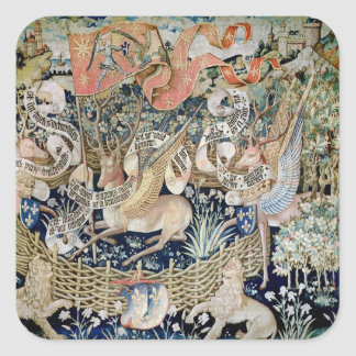 The Winged Deer (tapestry) Square Sticker