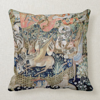 The Winged Deer (tapestry) Throw Pillow