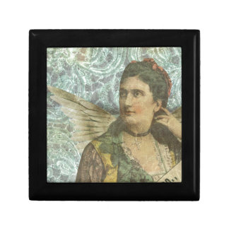 The Winged Lady Digital Collage Jewelry Box
