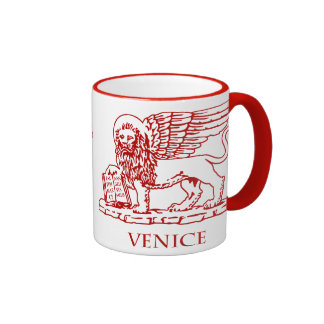 The Winged Lion of Venice, Italy Ringer Mug