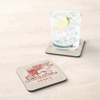 The Winged Venetian Lion Beverage Coaster