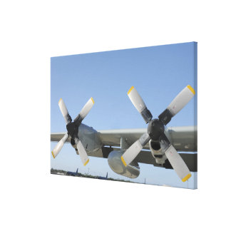 The wings of an LC-130 Hercules Canvas Print