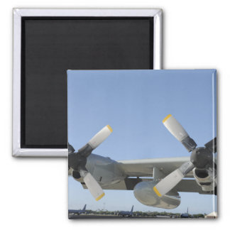 The wings of an LC-130 Hercules Refrigerator Magnet