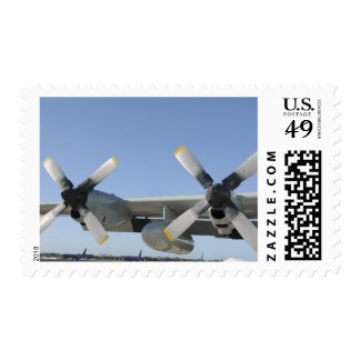 The wings of an LC-130 Hercules Postage
