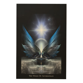 The Wings Of Anthropolis Wood Canvas Print