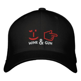 The Wink & Gun Embroidered Baseball Caps