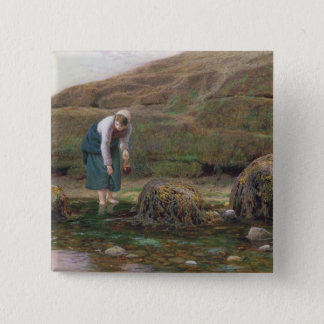 The Winkle Gatherer, 1869 Pinback Button