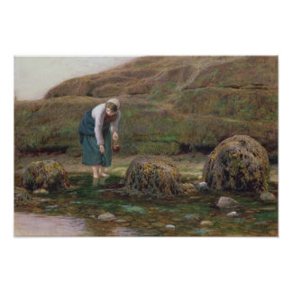 The Winkle Gatherer, 1869 Poster