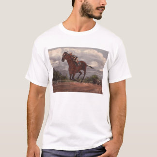 The Winner- Thoroughbred Horse Racing Painting T-Shirt