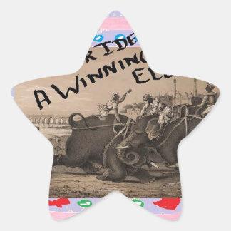The Winning Elephant Star Sticker
