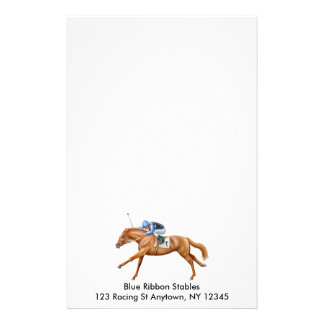 The Winning Race Horse Stationery