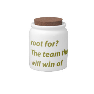 The winning supporter candy jar