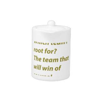 The winning supporter teapot