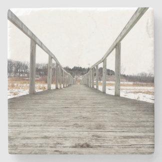 The Winter Bridge Stone Coaster
