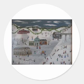 The Winter Carnival Classic Round Sticker