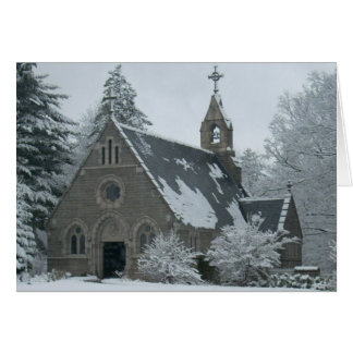 The Winter Chapel Greeting Card