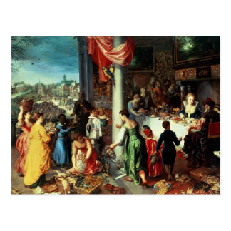 The Winter Feast, Gathering at the Bavarian State Postcard