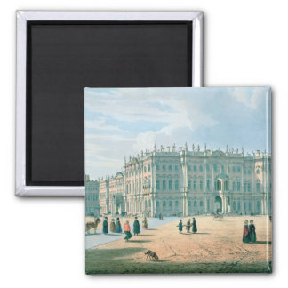 The Winter Palace as seen from Palace Passage 2 Inch Square Magnet