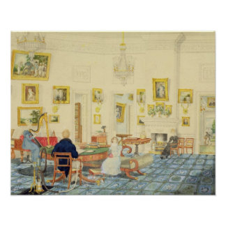 The Winter Room in the Artist's House at Patna, In Poster