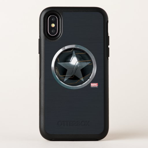 The Winter Soldier Icon Badge OtterBox Symmetry iPhone X Case
