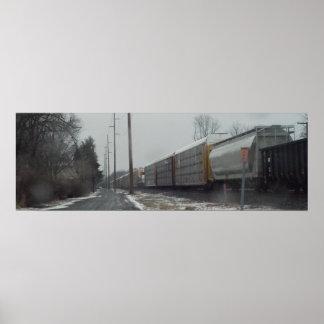 The Winter Train Print