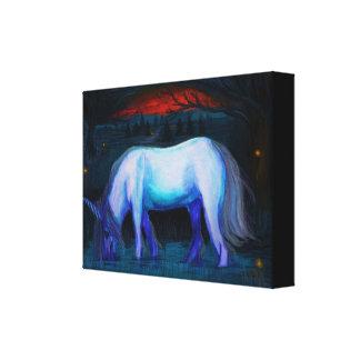 The Winter Unicorn Canvas Print