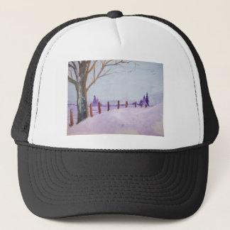 The Winter Watercolor Trucker Hat
