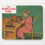 The Wireless Girl Mouse Pad