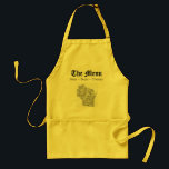 """The Wisconsin Menu Adult Apron<br><div class=""""desc"""">In Wisconsin we have three food groups; Brats,  Beer,  and Cheese.</div>"""