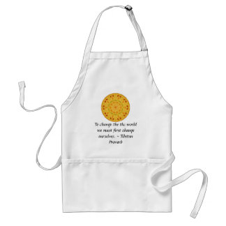 The wisdom of Tibet  PROVERB Adult Apron