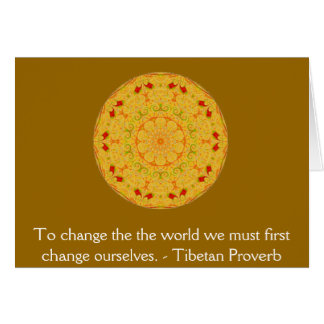 The wisdom of Tibet  PROVERB Card