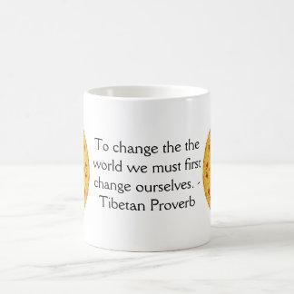 The wisdom of Tibet  PROVERB Classic White Coffee Mug